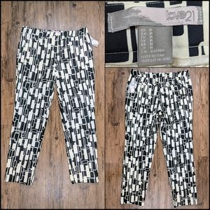 1960s inspired mod geometric ankle pant S M F21